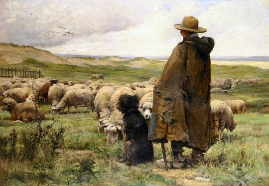 The Shepherd by Julien Dupre (1851-1910)