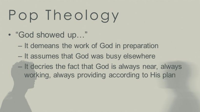 God Showed Up